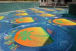 SOLAR SUN RINGS- Coperture innovative ed economiche per il riscaldamento solare delle piscine. COLORE BLU. Confezione da 1 pz.