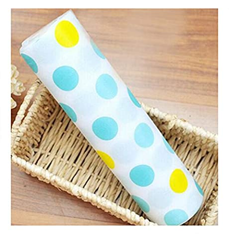 Zhide Lovely Blue Dots Pattern Non-Adhesive Shelf Paper Drawer Liner(Size