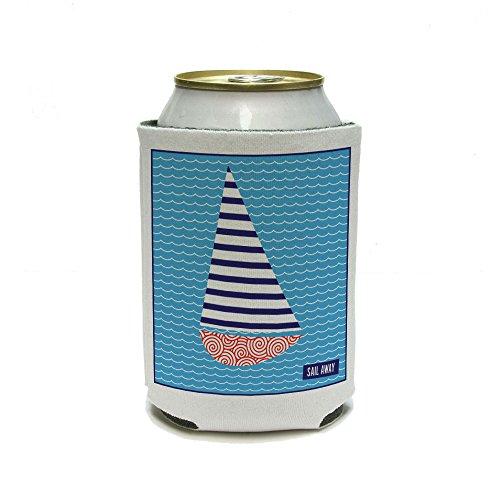 Sail Away – Thème Nautique Mariage Douche Bon Voyage peut refroidisseur isolant – Drink – Boisson Isotherme Support