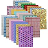 Shop Buzz Pack of 10 Card Designer Holographic Sheets and Designs A4 Size - for Arts & Crafts, Scrapbooking, Paper Decoration