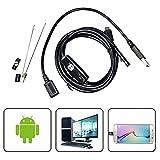 USB Endoskop Inspektionskamera, sgodde Endoskop Kamera 6verstellbarem LED-Licht mit 2.0Megapixel HD Wasserdicht Schlange Kamera für Android, OTG, UVC Funktion & kompatibel mit laptop-16.4FT (5m)