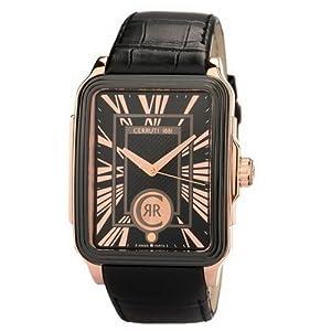 Reloj de caballero Reloj de caballero Cerruti CRB021D222B - Reloj de Caballero movimiento de cuarzo con correa de piel Negro de Cerruti