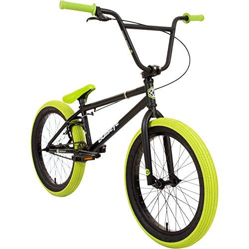 Bullseye Projekt 501 BMX 20 Zoll Park Freestyle Bike Fahrrad (Schwarz/Grün) -