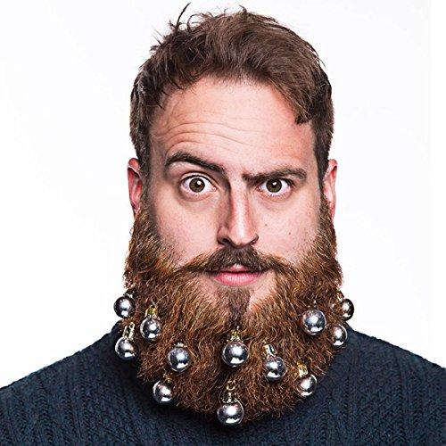 Bart Kostüm Und Schnurrbart - bristlr Bart und Schnurrbart Weihnachtskugeln, 9Stück