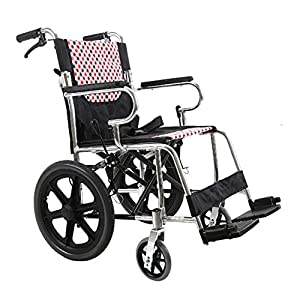 Shisky Aluminum alloy folding soft seat wheelchair Thickened lightweight elderly disabled hand trolley
