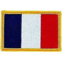 Patch écusson brodé drapeau france français thermocollant insigne backpack