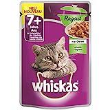 Whiskas Chat 7+ Ragout avec Agneau en gelée-24x 100g de Nourriture