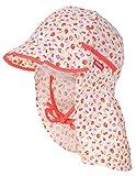 maximo Schirmmütze mit Nackenschutz Zum Binden, süßes Erdbeer Design UV 30 994500 (47 cm)
