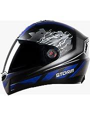 Steelbird SBA-1 Storm Glossy Black with Blue with Smoke Visor
