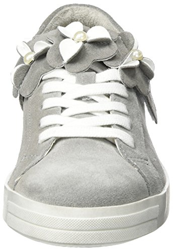 Tamaris 23699, Scarpe da Ginnastica Basse Donna Grigio (Grey/white)