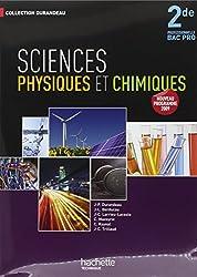 Sciences physiques et chimiques 2de professionnel Bac Pro