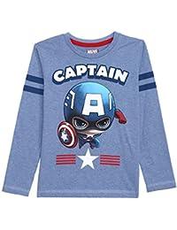 Avengers Kids Boys Allure Blue Melange Color Full Sleeve T-shirt