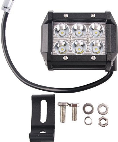 VerRich 18W LED-Arbeitslichtleisten 2PCS 4