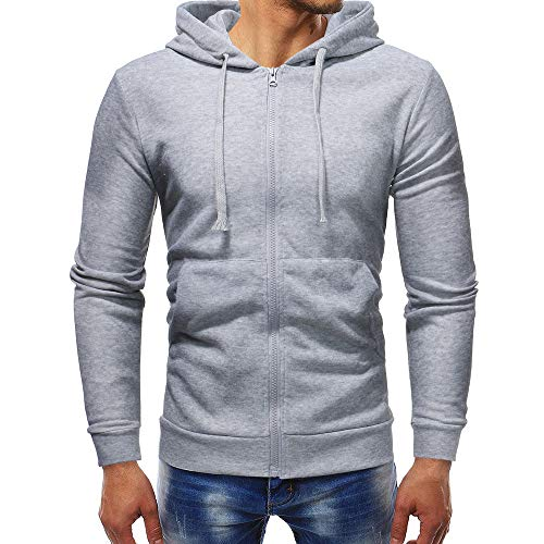 fiosoji Herren Slim Solid Color Zip Sweater Hoodie Casual Langärmliges Pullover Sweatshirt Outwear Tops Tall Classic Zip Fleece