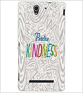 PrintDhaba Quote D-2933 Back Case Cover for SONY XPERIA C3 (Multi-Coloured)