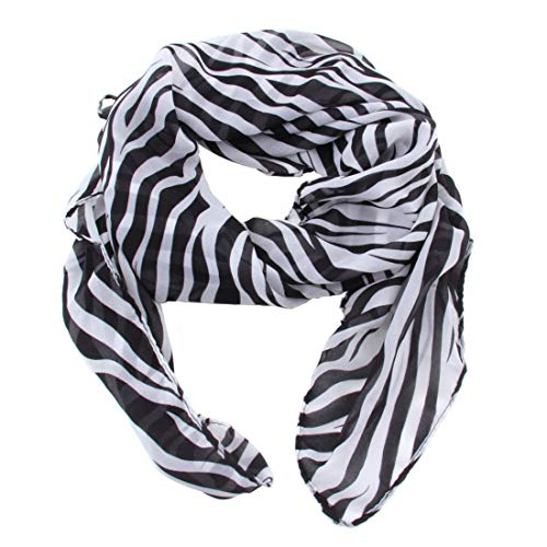 Formulaone Sommer-Art-Frauen-Mädchen-Chiffon- Langer Zebra Druckte Schal-Schal-Cachecol Weich und Glatt, Um mit Etwas flippigem Rand Sich zu berühren