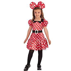 Carnival Toys-Disfraz Minnie Mouse para niña para niños, multicolor, talla única, 66013