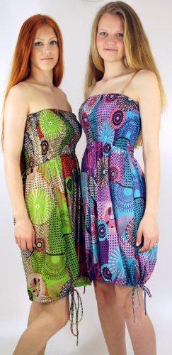 ... Retro Minikleid in 3 Farben / Kurze Kleider Pink