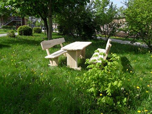 Rustikale Gartenmöbel (Rustikale Gartenmöbel, Sitzgruppe, Sitzgarnitur, Eiche, KJR Holzmanufaktur)