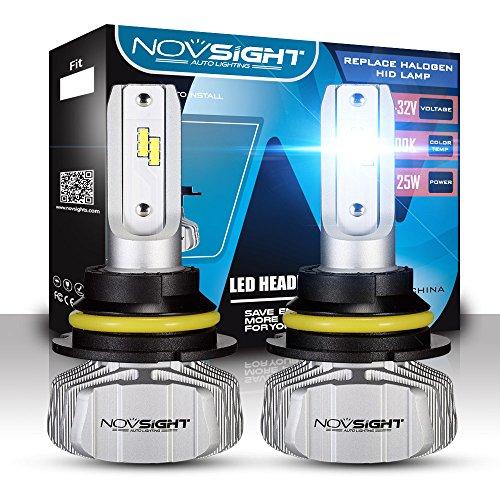 NOVSIGHT 60W 10000LM H13 LED Ventilateur Amovible Ampoule Phare Lampe Voiture