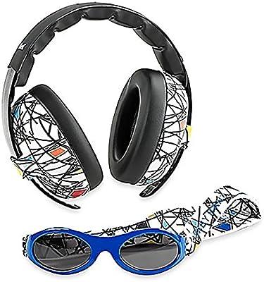 Baby Banz orejeras orejeras niño y aventura Banz gafas de sol Combo Set-la mejor protección auditiva para niños y bebés-PREMIUM infantil y de bebé bloque de gafas de sol-Ruido-100% UV protección gafas de sol