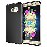 NALIA Handyhülle für Samsung Galaxy S7 Edge, Ultra-Slim Silikon Case Hülle, Dünne Crystal Schutzhülle, Etui Handy-Tasche Back-Cover Bumper, TPU Gummihülle für Samsung-S7 Edge Phone - Matt Schwarz