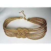 Cinturón mujer en cordón trenzado de seda con nudo marinero