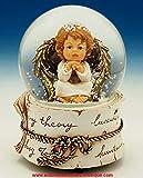 Lutèce Créations Schneekugel mit Musik, Weihnachten, mit Engel, Ref. 52055