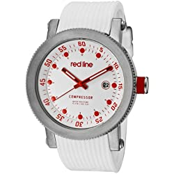 Red Line-rl-18000-02rd-wht-st-Armbanduhr-Quarz Analog-Armband Gummi weiß