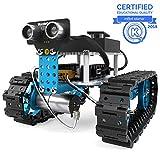 Makeblock mBot Starter, kit robotique programmable 2 en 1, réservoir de Robot et Voiture Robot à Trois Roues Deux Formes, Version Bluetooth pour Les familles et Les particuliers, Bleu