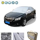 RunSnail Auto Abdeckung Winter, Frostschutz, Autoplane Schnee Regenabweisend & Windsicher Plane Windschutzscheibe Abdeck
