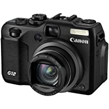 "Canon PowerShot G12 - Cámara compacta de 10 Mp (pantalla articulada de 2.8"", zoom óptico 5x, estabilizador de imagen óptico, vídeo Full HD 1080p) color negro [importado]"