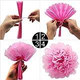 KUNGYO Zum 40. Geburtstag Party Dekorationen Kit Rose Gold Happy Birthday Banner-Riesen Zahl 40 Helium Folienballons, Bänder, Papier Pom Blumen, Latex Ballon, Alles Gute Zum Geburtstag für Frauen - 9