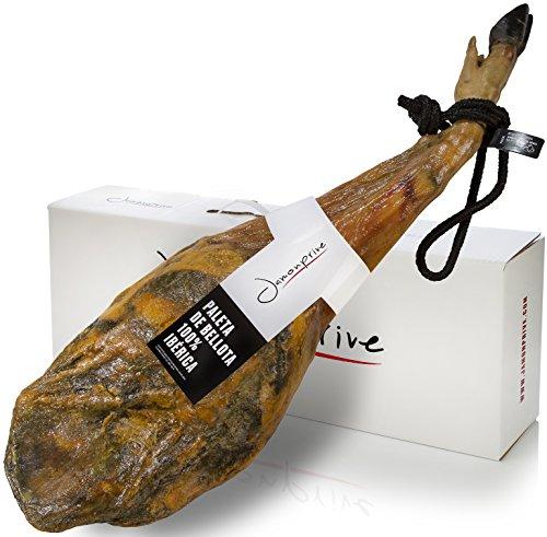 Pata Negra Schinken 100% Iberico aus Eichelmast (Vorderschinken) 4-4.5 Kg | Spanischer Jamon Iberico...
