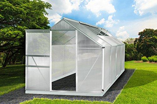 Gewächshaus Aluminium mit Stahlfundament 7,6m³ L 250 x B 190 x H 195cm