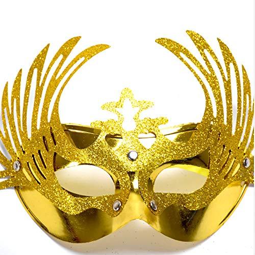 Ndier Halloween Ball Maske Kronprinzessin oder Maskerade Prinzessin Maske (Gold) 1ST