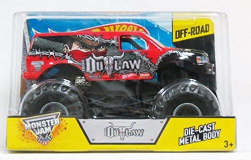 Hot Wheels Monster Jam Iron Outlaw Scale 1:24 Off Road 2014 by Mattel