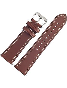 VICTORINOX Uhrenarmband 23mm Leder Braun Glatt - Ersatzarmband Passend Für Uhrenmodelle CHRONO CLASSIC / INFANTRY...