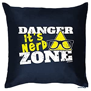 Danger Zone Coussin avec rembourrage pour chaque Nerd–de Goodman Design.