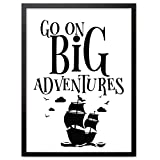 "Booga Baby Poster Kinderzimmer mit Spruch ""Go on Big Adventures"""