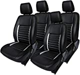 #5: Khushal Leatherite Car Seat Cover for Maruti Swift KS013MSWIFT Black/Orange