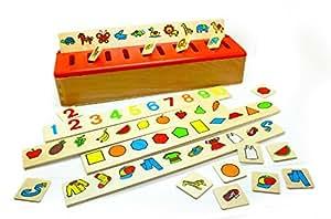 edufun ef 31105 jouet en bois bo te de tri montessori jeux et jouets. Black Bedroom Furniture Sets. Home Design Ideas