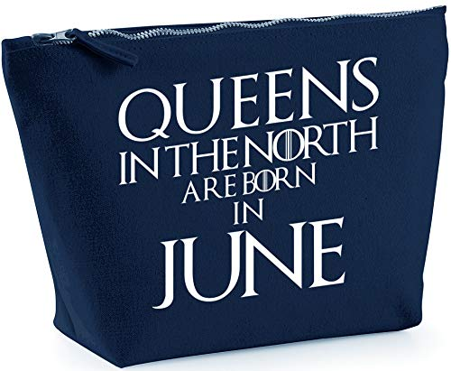 ea87902c2 Hippowarehouse Queens In The North Are Born In June Bolsa de Lavado  cosmética Maquillaje Impreso 18x19x9cm