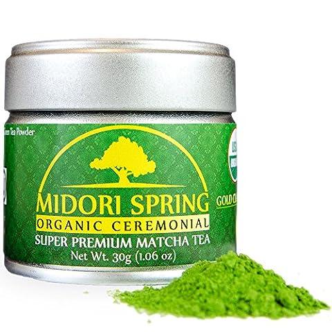 Midori Spring - GOLD CLASS - Organic Ceremonial Matcha, Premium Japanese Matcha Green Tea Powder [Certified Organic, Vegan, Kosher]