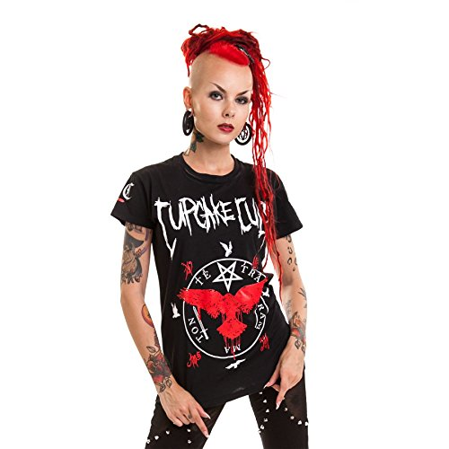 Cupcake Cult Black Crows Girl-Shirt schwarz L (Halloween Uk Cupcakes)