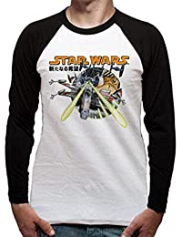 Cid Stars Wars-Manga X Wing, T-Shirt à Manches Longues Homme