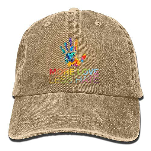 Low-profile-washed Twill Hut (Zhgrong Caps More Love Less Hate, Gay Pride Vintage Washed Dyed Cotton Twill Low Profile Adjustable Baseball Cap Sports Cap)