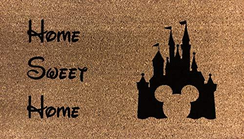 Artisan Kiss Paillasson en Fibre de Coco imprimé Motif Disney 70 x 40 cm, Home Sweet Home, 70x40cm