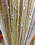 yiyida Romantische bunten Vorhang glänzend glitzer Tür Raumteiler Fransen Vorhang Paar 300 x 300 cm Color 1 (View amazon detail page)