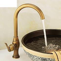 HCP Todo el grifo de cobre/Rústico grifo de lavabo de la cocina/grifo del lavabo caliente y fría/grifo giratorio Continental